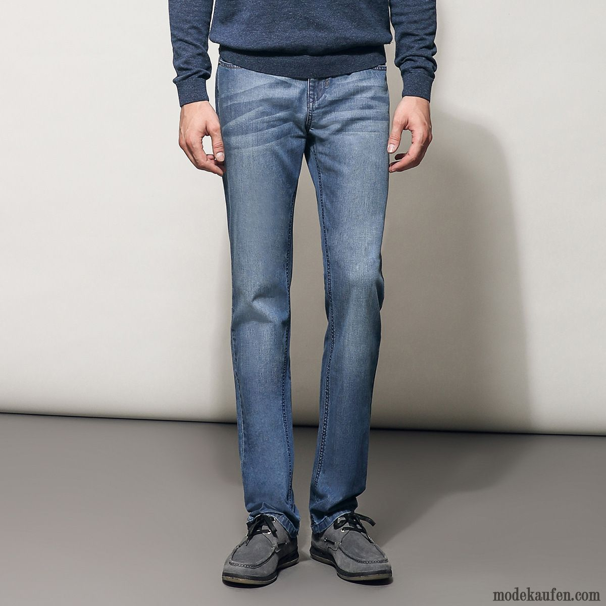 Jeans Destroyed Look Herren Günstig, Low Waist Jeans Herren Marineblau
